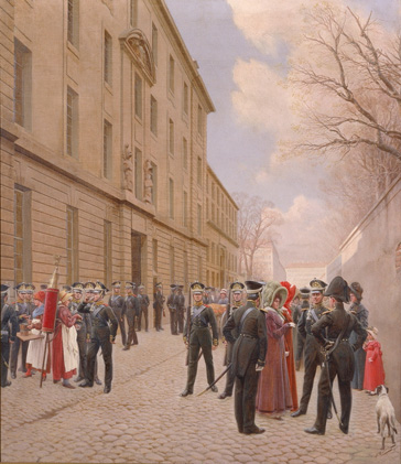 名画絵画のプリント作品販売 Ivan Semenovich RosenのThe Russian Guards in Paris in 1814. 1911 The Russian Guards in Paris in 1814. 1911