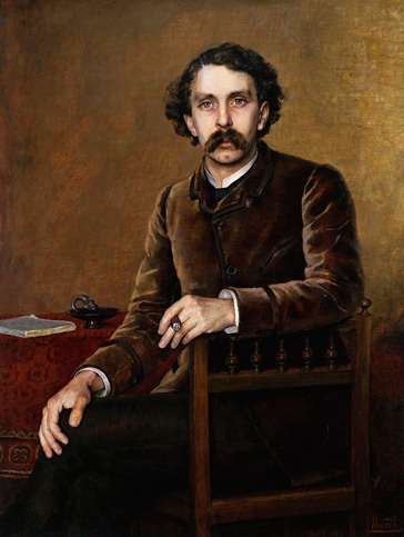 名画絵画のプリント作品販売 Francois NardiのPortrait of Stephane Mallarme. 1887