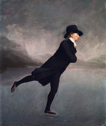 名画絵画のプリント作品販売 Sir Henry RaeburnのReverend Robert Walker skating on Duddingston Loch. 1795