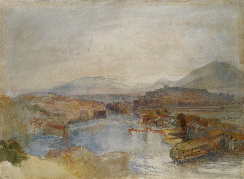 名画絵画のプリント作品販売 ジョゼフ・マロード・ウィリアム・ターナー Joseph Mallord William TurnerのGeneva From The West, From The Junction Of The Arve And The Rhone. About 1836.