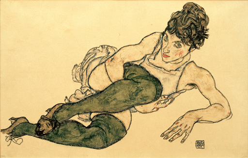 Egon Schiele Moa Girl Canvas Print
