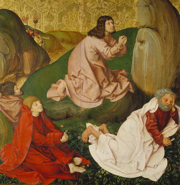 名画絵画のプリント作品販売 Rueland Frueauf the ElderのPassion Altar. Christ on the Mount of Olives. About 1470/80