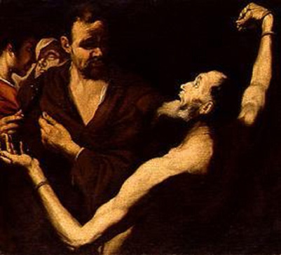 名画絵画のプリント作品販売 Jusepe de (Follower) .RiberaのThe Martyrdom of Saint Bartholomew.