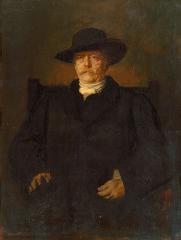 名画絵画のプリント作品販売 フランツ・フォン・レンバッハ Franz Seraph Lenbach Ritter von LenbachのPortrait of Otto von Bismarck in civilian dress. 1884