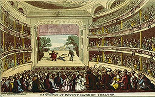 名画絵画のプリント作品販売 TheaterのAuffuhrung des Dr.Syntax im Coventgarden-Theater in London.