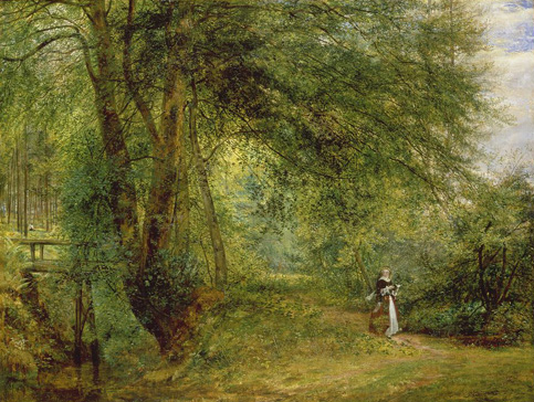 名画絵画のプリント作品販売 Richard RedgraveのAn hour with the poet in the leafy month of June. 1852/53.