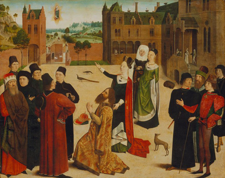 名画絵画のプリント作品販売 Master of the Tiburtine SibylのThe Prophecy of the Tiburtine Sibyl. Ca. 1473-77