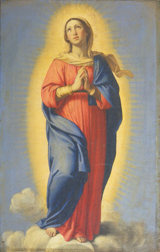 名画絵画のプリント作品販売 Giovanni Battista (Sassoferrato) SalviのImmaculate conception.