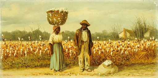 名画絵画のプリント作品販売 William Aiken WalkerのThe Cotton Pickers.