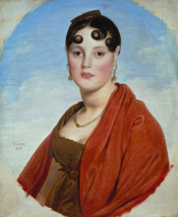 名画絵画のプリント作品販売 ドミニク・アングル Jean-Auguste-Dominique IngresのPortrait of Madame Aymon (La belle Zelie). 1806