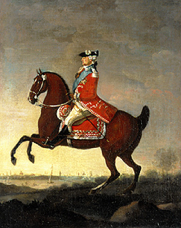名画絵画のプリント作品販売 Michal StachowiczのStanislaus II. August of Poland on horseback, 1789