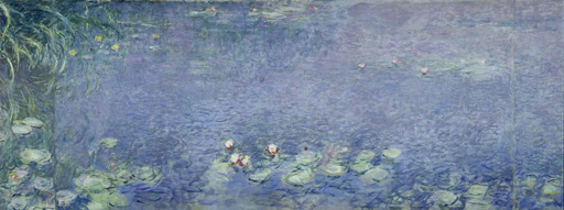 名画絵画のプリント作品販売 クロード・モネ Claude MonetのRight centre piece of the large water lily painting in the Musee de l