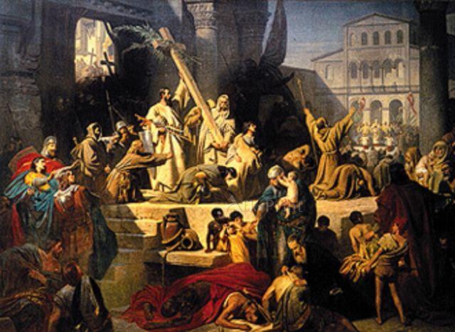 Die Eroberung Jerusalems durch Gottfried von Bouil [39962] カール ...