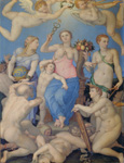 名画絵画のプリント作品販売 アーニョロ・ブロンズィーノ Agnolo BronzinoのAllegory of happiness. About 1567 Allegory of happiness. About 1567