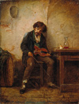 名画絵画のプリント作品販売 Nikolai Petrovich PetrovのThe violin player. 1876 The violin player. 1876