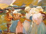 名画絵画のプリント作品販売 ホアキン・ソローリャ Joaquin Sorolla y BastidaのFischerwomen on the beach. 1903 Fischerwomen on the beach. 1903