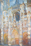 名画絵画のプリント作品販売 クロード・モネ Claude MonetのRouen Cathedral, Morning Sunlight, Blue Harmony. 1