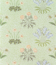名画絵画のプリント作品販売 ウィリアム・モリス William Morrisのデイジー Daisy design wallpaper with lily of the valley and other wild flowers on a 'willow' background 1862