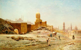 名画絵画のプリント作品販売 Ernest Karl Eugen KoernerのA view of Cairo. 1875