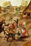 名画絵画のプリント作品販売 ピーテル・ブリューゲル(子) Pieter Bruegel (Brueghel) de JongeのThe servants breakfast after the wedding.