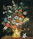 名画絵画のプリント作品販売 ピーテル(ピーター)・キャスティールズ Pieter Casteels IIIのThe twelve months of flowers. A floral Calendar of still lifes - November. 1730-31