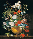 名画絵画のプリント作品販売 ピーテル(ピーター)・キャスティールズ Pieter Casteels IIIのThe twelve months of flowers. A floral Calendar of still lifes - July. 1730-31