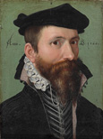 名画絵画のプリント作品販売 Ludger Tom Ring the YoungerのPortrait of a man. 1566