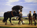 名画絵画のプリント作品販売 Rasmus ChristiansenのThe Black Stallion. 1901