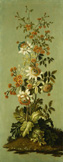名画絵画のプリント作品販売 Jean-Baptiste Pillement (school of Pillement)のDecorative Panels with Flowers (2 of 3).