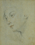 名画絵画のプリント作品販売 グイド・レーニ Guido ReniのThe Head of a Woman Looking Down to the Left.