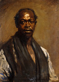 名画絵画のプリント作品販売 Sir William OrpenのPortrait of a Negro.