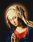 名画絵画のプリント作品販売 Giovanni Battista (Sassoferrato) SalviのThe Virgin in Prayer.