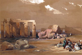 名画絵画のプリント作品販売 デイビット・ロバーツ David RobertsのFragments of the Great Colossi at the Memnonium, Thebes.