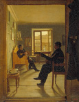 名画絵画のプリント作品販売 Alexej Wassiljew TyranoffのIn the studio of Tschernetzov´s brother. 1828.