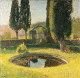 名画絵画のプリント作品販売 アンリ・マルタン Henri MartinのThe Basin south-eastern from the Park of Marquayol. About 1930