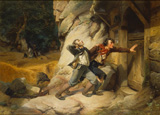 名画絵画のプリント作品販売 Carl Wilhelm HubnerのThe shooting right. 1846