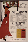 名画絵画のプリント作品販売 オーブリー・ビアズリーの Poster for 'The Pseudonym and Autonym Libraries', published by T. Fisher Urwin, 1894