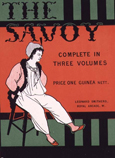 名画絵画のプリント作品販売 オーブリー・ビアズリーの Design for the front cover of 'The Savoy: Complete in Three Volumes', c.1896 (colour litho)
