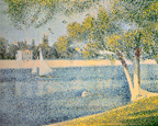 名画絵画のプリント作品販売 ジョルジュ・スーラ Georges SeuratのLa Seine s la Grande Jatte (The Seine near the isl