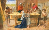 名画絵画のプリント作品販売 ジョン・エヴァレット・ミレー Sir John Everett MillaisのChrist in the House of His Parents' (od. The Carpenter's Shop)