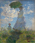 名画絵画のプリント作品販売 クロード・モネ Claude MonetのWoman with a Parasol ? Madame Monet and Her Son, 1