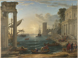 名画絵画のプリント作品販売 クロード・ロラン Claude LorrainのSeaport with the Embarkation of the Queen of Sheba