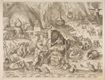 名画絵画のプリント作品販売 ピーテル・ブリューゲル(父) Pieter Bruegel (Brueghel) de OudeのAvarice (Avaritia) from The Seven Deadly Sins, 155