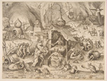 名画絵画のプリント作品販売 ピーテル・ブリューゲル(父) Pieter Bruegel (Brueghel) de OudeのAvarice (Avaritia), from the series The Seven Deadly Sins, 1558.