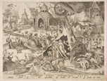 名画絵画のプリント作品販売 ピーテル・ブリューゲル(父) Pieter Bruegel (Brueghel) de OudeのLust (Luxuria) from The Seven Deadly Sins, 1558.