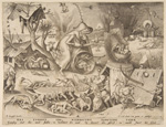名画絵画のプリント作品販売 ピーテル・ブリューゲル(父) Pieter Bruegel (Brueghel) de OudeのAnger (Ira), from the series The Seven Deadly Sins, 1558.