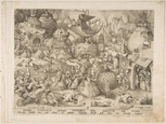名画絵画のプリント作品販売 ピーテル・ブリューゲル(父) Pieter Bruegel (Brueghel) de OudeのPride (Superbia) from The Seven Deadly Sins, 1558.