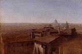 名画絵画のプリント作品販売 Johann Georg von DillisのView of St. Peter in Rome as seen from the Villa Malta. 1818