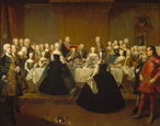 名画絵画のプリント作品販売 Martin van MeytensのFeast on the occasion of Maria Theresia's Marriage.