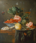 名画絵画のプリント作品販売 ヤン・ダヴィス・デ・ヘーム Jan Davidsz de Heem (Jan Davidszoon de Heem)のStill life with fruit and butterfly. 1652
